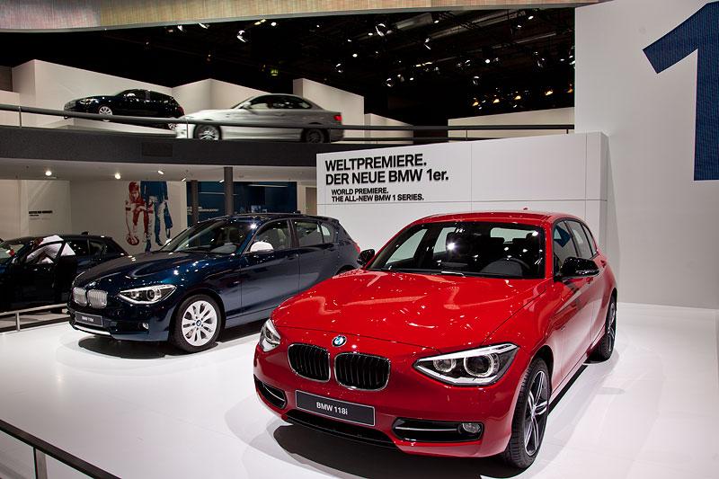 die BMW 1er Reihe feierte auf der IAA 2011 Weltpremiere