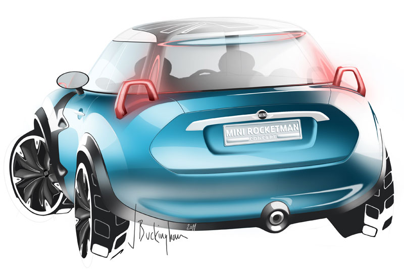 MINI Rocketman Concept, Designskizze.