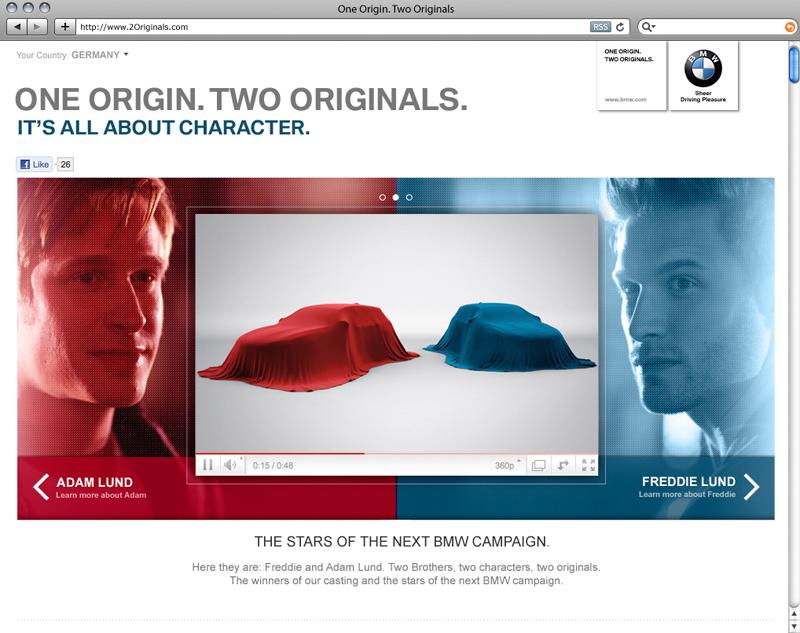 Brüderpaar Freddie und Adam Lund gewinnt Hauptrollen in 'One origin. Two originals' Kampagne