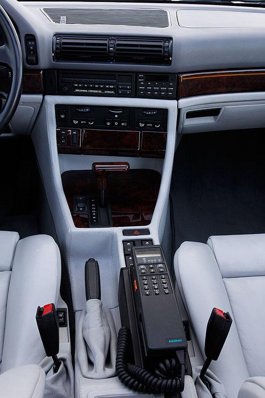 BMW 750iL (E32), Mittelkonsole