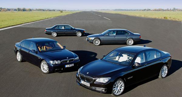 25 Jahre BMW V12 Motor Vier 7er Generationen Mit