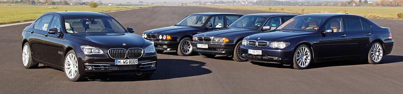 25 Jahre BMW V12-Motor: vier BMW 7er-Generationen mit V12-Motor