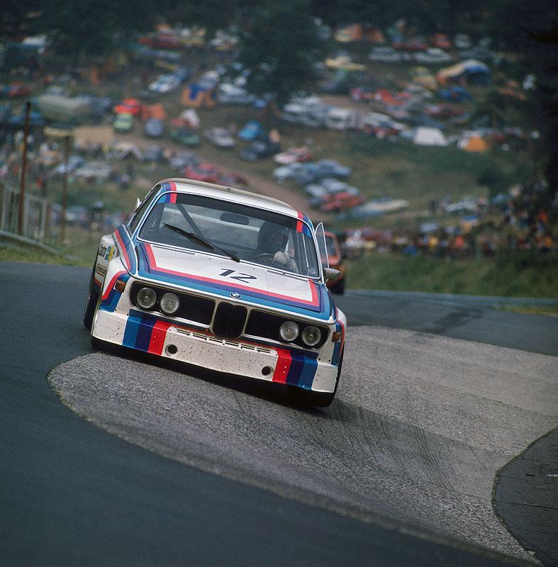 BMW 3.0 CSL mit Chris Amon und Hans-Joachim Stuck auf dem Nürburgring 1973