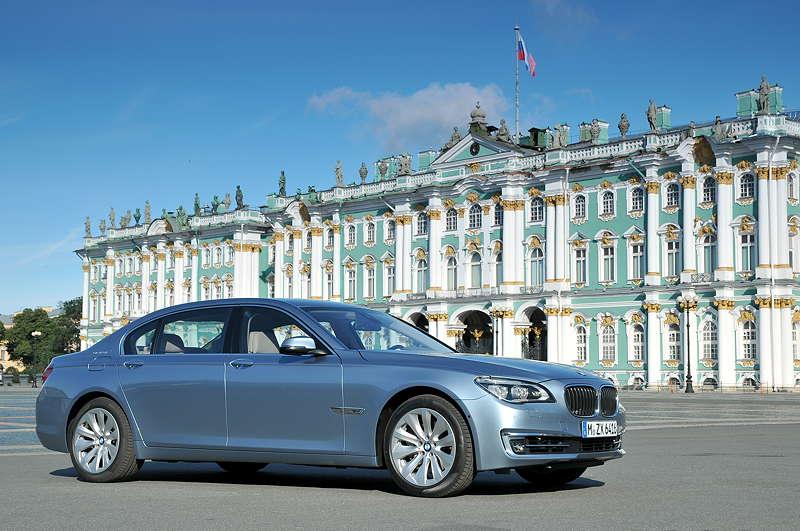 BMW ActiveHybrid 7 (F04 LCI) on location in St. Petersburg