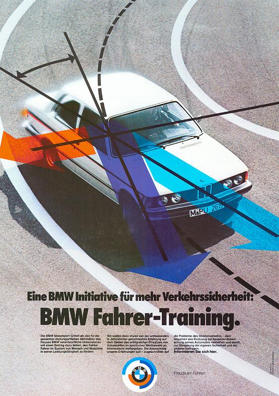 Poster 'BMW Fahrer-Training'