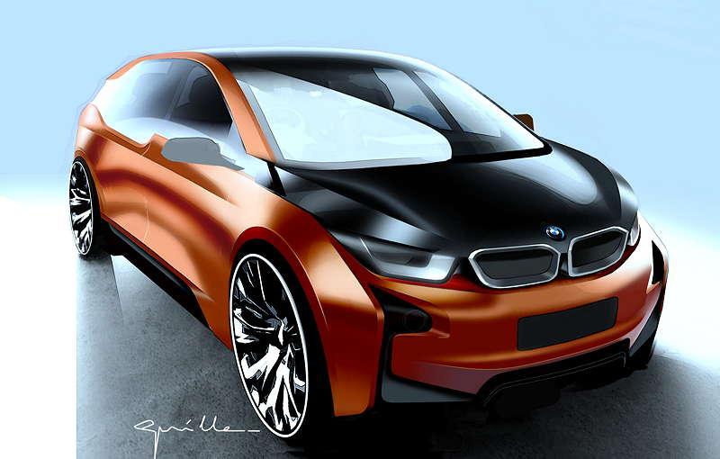 BMW i3 Concept Coupe, Designzeichnung