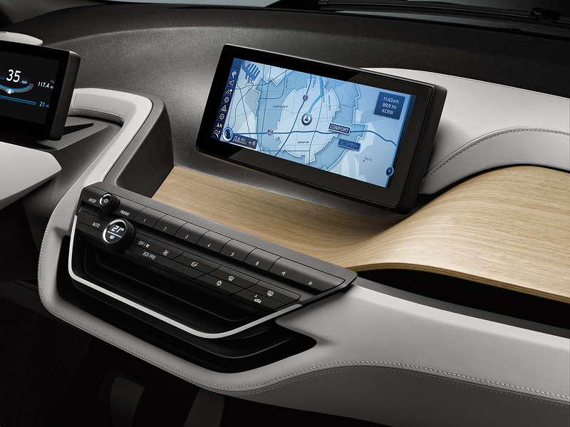 BMW i3 Concept Coupe, moderne Anzeige- und Display-Technik