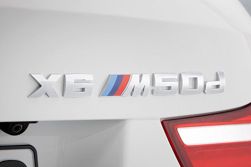 BMW X6 M50d, Typbezeichnung am Heck