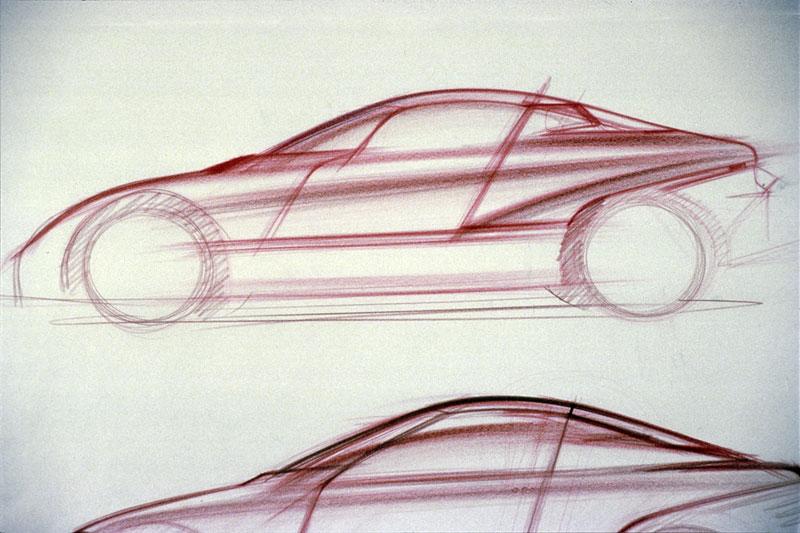 BMW Z1, Designskizze, 1985-1987