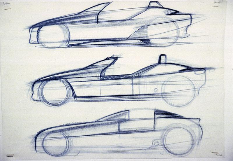 BMW Z1 Designskizze, 1985-1987