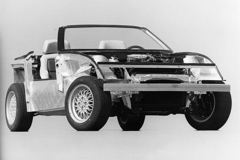 BMW Z1 ohne Kunststoff-Außenhaut, 1986BMW Z1 ohne Kunststoff-Außenhaut, 1986