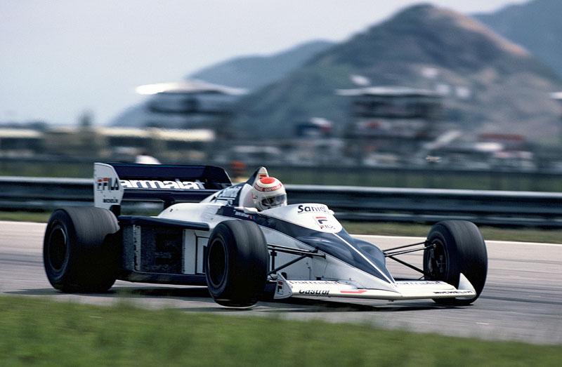 Nelson Piquet beim Großen Preis von Brasilien, 1983 im Brabham BMW BT 52
