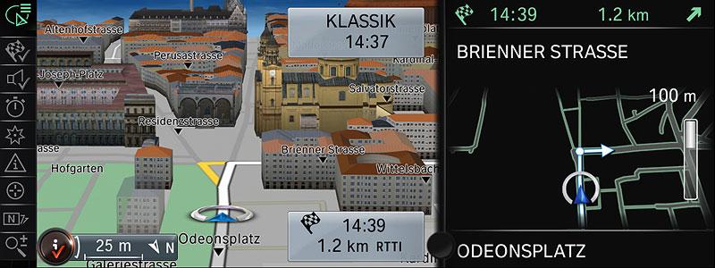 BMW ConnectedDrive, Neue Generation Navigationssystem Professional, Navigation