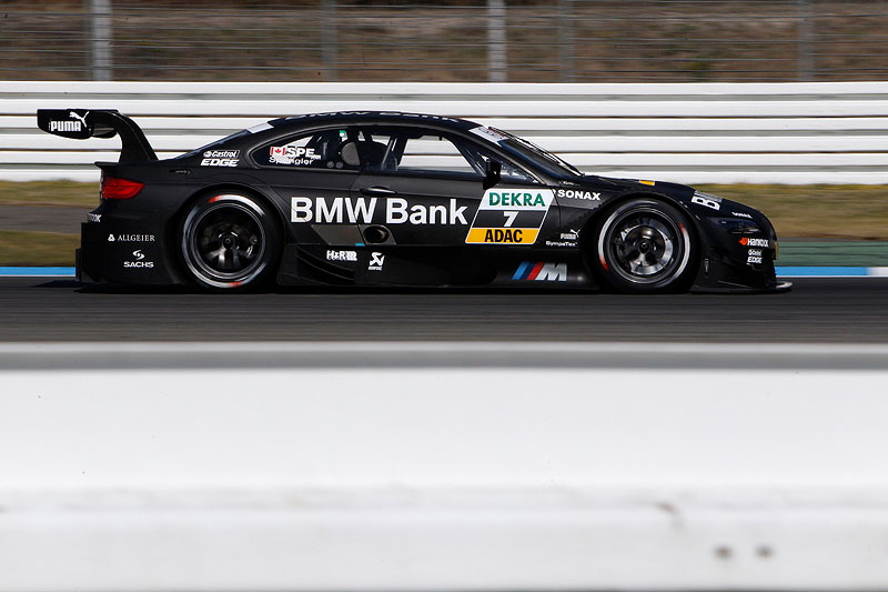 Hockenheim, 3. April 2012. BMW M3 DTM Test. BMW Bank M3 DTM.