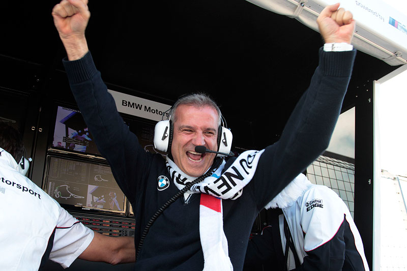 BMW Motorsportdirektor Jens Marquardt freut sich über das Traum-Ergebnis in Hockenheim