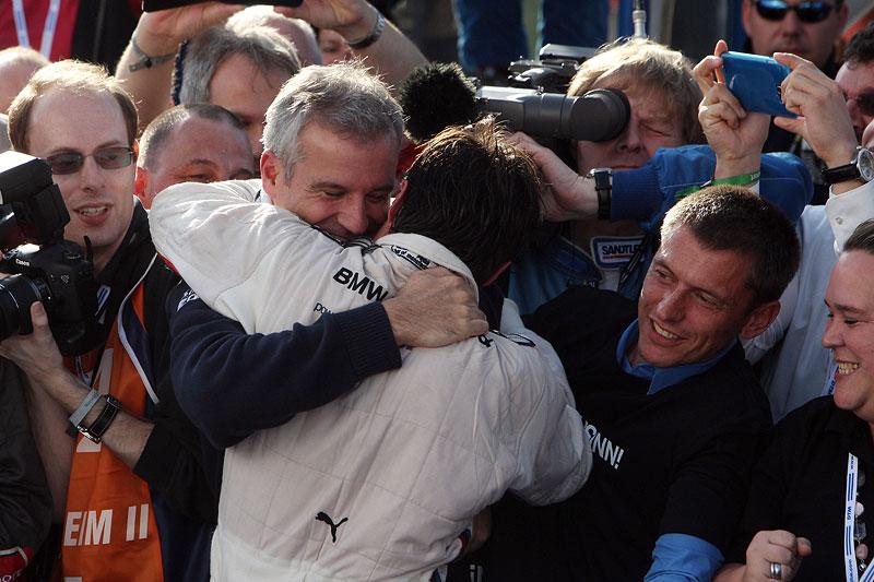 BMW Motorsport Direktor Jens Marquardt und DTM-Champion 2012 Bruno Spengler