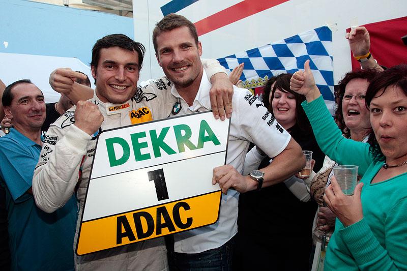 Der alte und neue DTM-Champion: Bruno Spengler neben Martin Tomczyk.