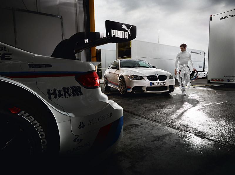 BMW M3 mit M Performance Zubehör mit dem DTM Champion 2012 Bruno Spengler