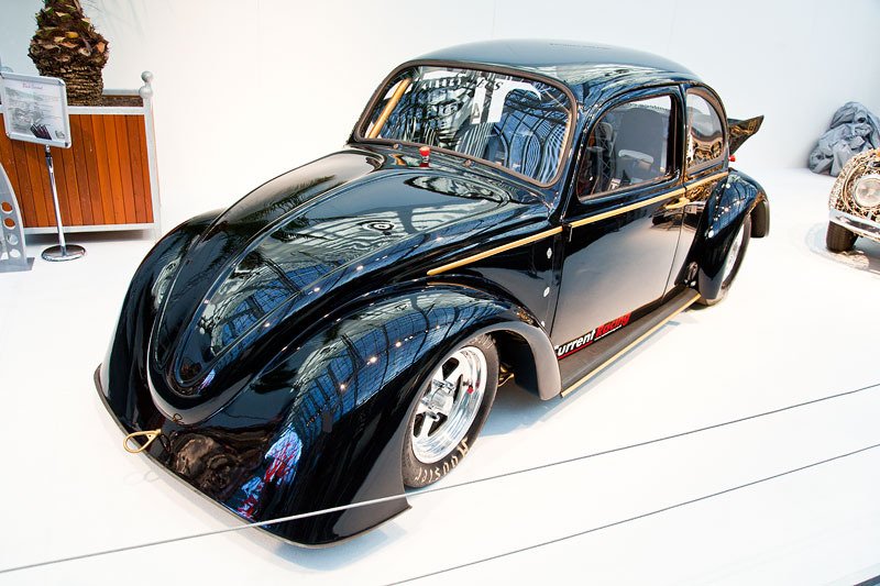 Black Curent III Electric VW Beetle, schnellstes E-Auto im Dragster Sport. Die Viertelmeile legte er in 9,51 Sek. zurück und war dabei über 217 km/h schnell.