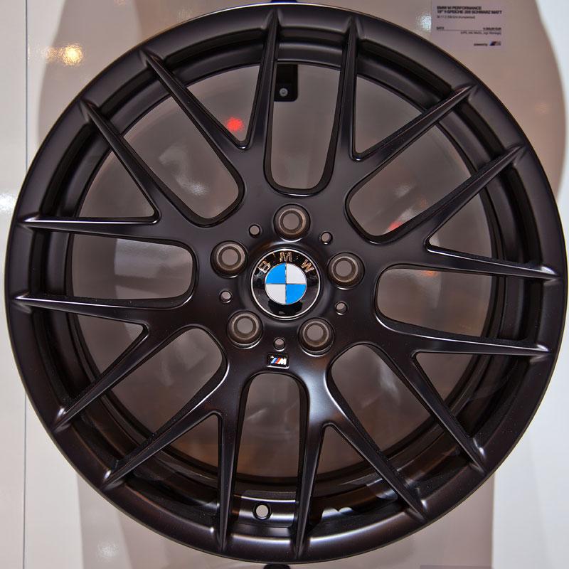 BMW M Performance 19 Zoll Y-Speiche 359 schwarz matt, Satz: 4.350,- Euro
