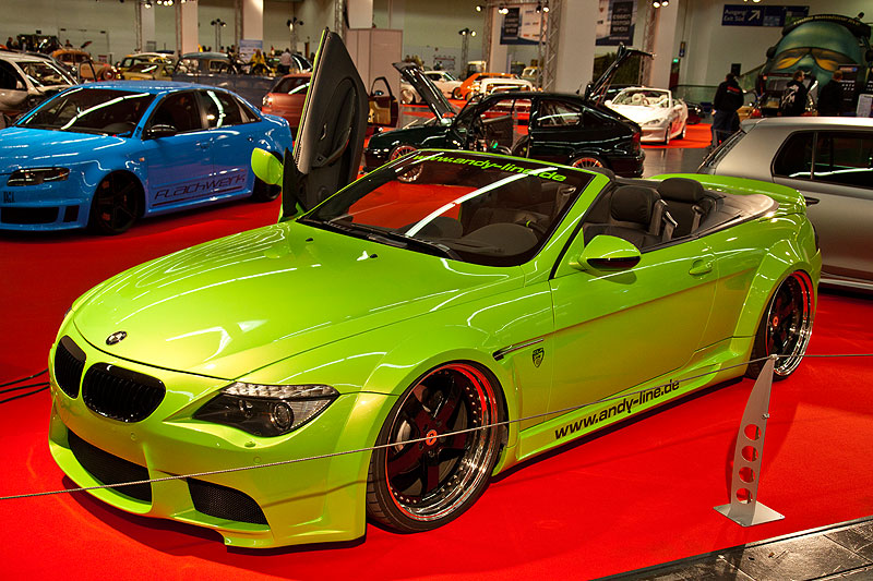 BMW 6er Cabrio (E64) in Halle 1A, V8-Motor, 333 PS, speziell angefertigtes Airride-Fahrwerk von G-Ride