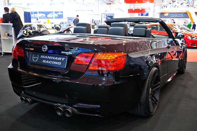 Manhart MH3 V8 R Biturbo Cabriolet mit Akrapovic Evolution Titan Abgassystem, Getriebe aus dem BMW X6 M 6-Gang Sport