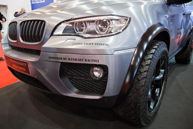 Manhart MHX6 Dirt Edition, mit MHR Breitbaukit und BMW X6 Hybrid Motorhaube mit Powerdome