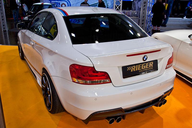 BMW 135i Coupé (E82), Rieger Spoilerstoßstange für 419 Eur, Spoilerschwert für 119 Eur