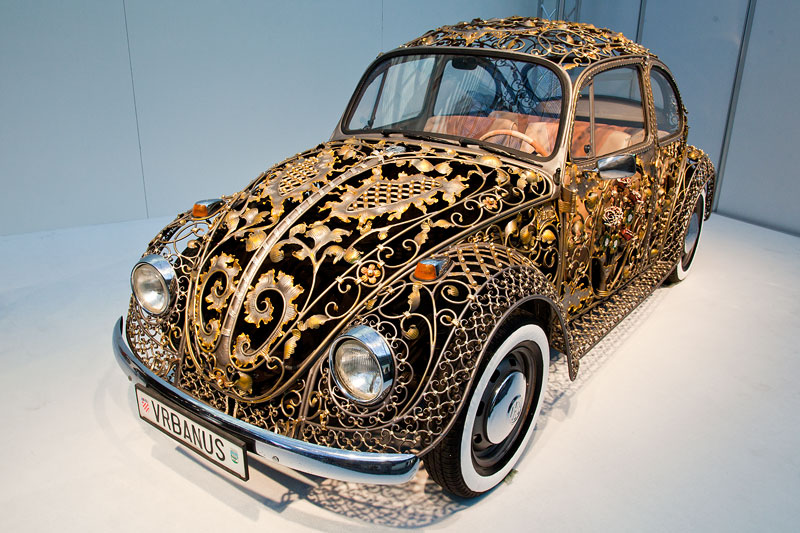 Croatian Wrought Iron VW Beetle, von der Firma Zeljko Vrbanus in Sisak (Kroatien)