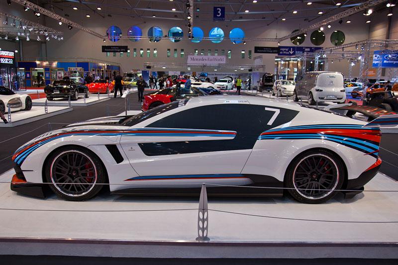 Italdesign Brivido Martini Racing: GT-Rennversion, Essen Motor Show 2012