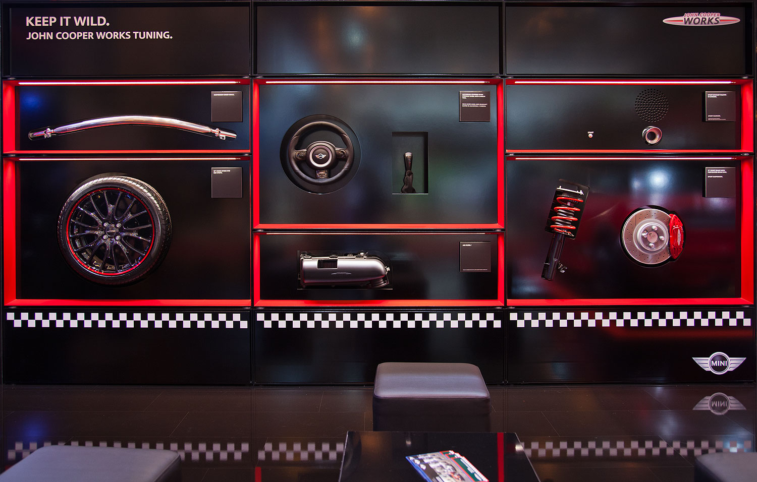 foto mini john cooper works air filter vergr ert. Black Bedroom Furniture Sets. Home Design Ideas