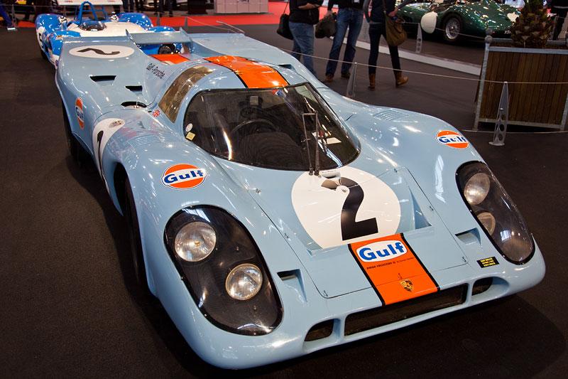 Porsche 917 aus dem Jahr 1971, WM-Fahrzeug 1971, 12-Zylinder, 5.000 ccm, 630 PS, Siege: u. a. 24h von Le Mans, Fahrer: u. a. Jo Siffert, Pedro Rodriguez
