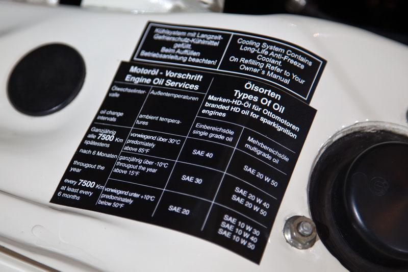 BMW 3,0 S (E3), Ölsorten Empfehlung im Motorraum