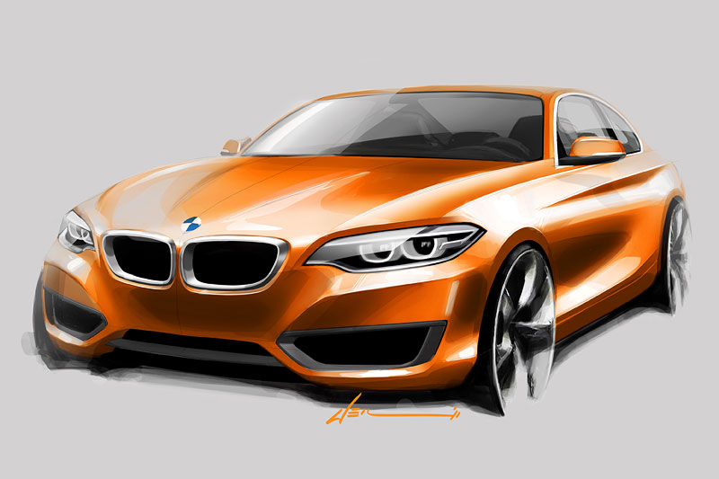 BMW 2er Coupé, Designskizze