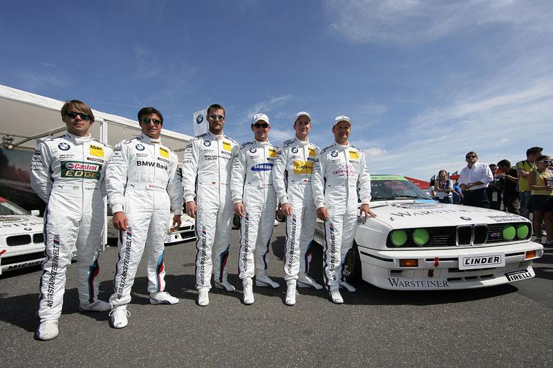 Augusto Farfus (BR), Bruno Spengler (CA), Martin Tomczxk (DE), Joey Hand (US), Dirk Werner (DE) und Andy Piaulx (GB)