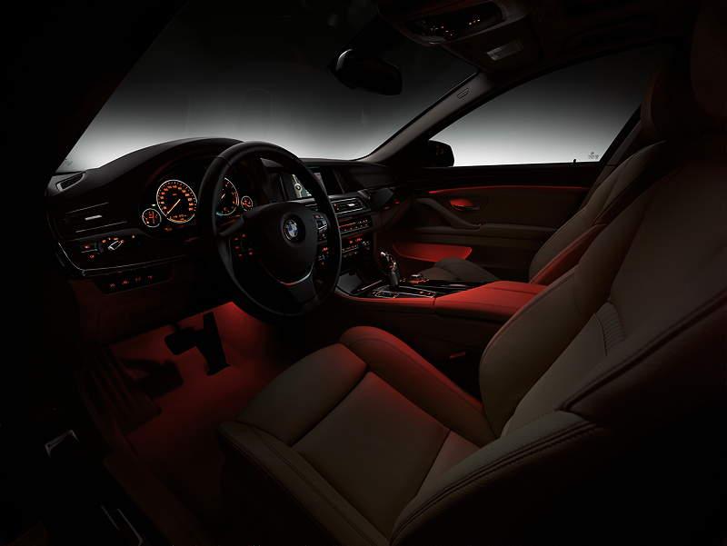 Foto: BMW 5er Limousine, Facelift 2013, Interieur vorne ...