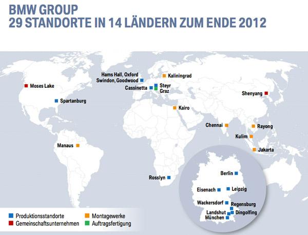 Bmw Standorte Weltweit