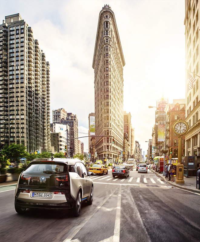 BMW i3 in der Megacity New York