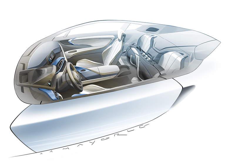 BMW i8, Designzeichnung