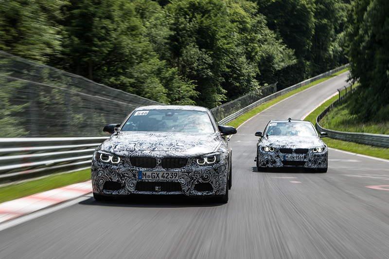 Entwicklungsfahrt Nürburgring, Nordschleife mit Bruno Spengler und Timo Glock.