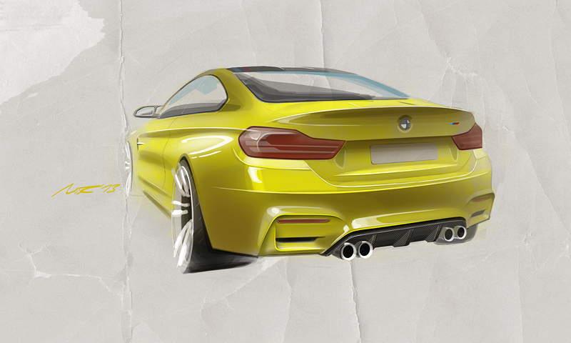 BMW M4 Concept Coupé, Designskizze