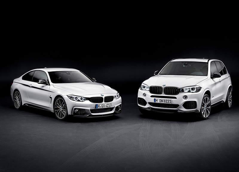 Das neue BMW 2er Coupé und dr neue BMW X5, jeweils mit BMW M Performance Zubehör.