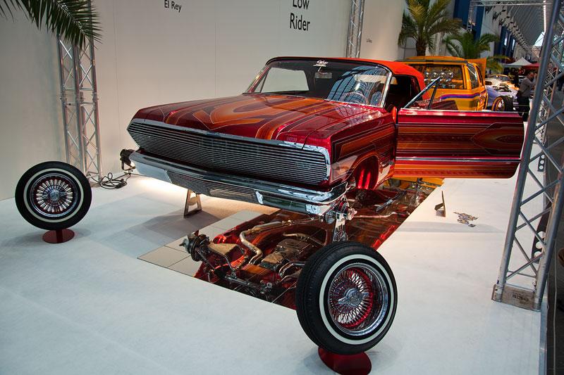 El Rey, Besitzer: Albert de Alba (USA), Basis: Chevy Impala 5S Convertible. 5,7 Liter-V8-Motor. Wurde 'LowRider des Jahres'.