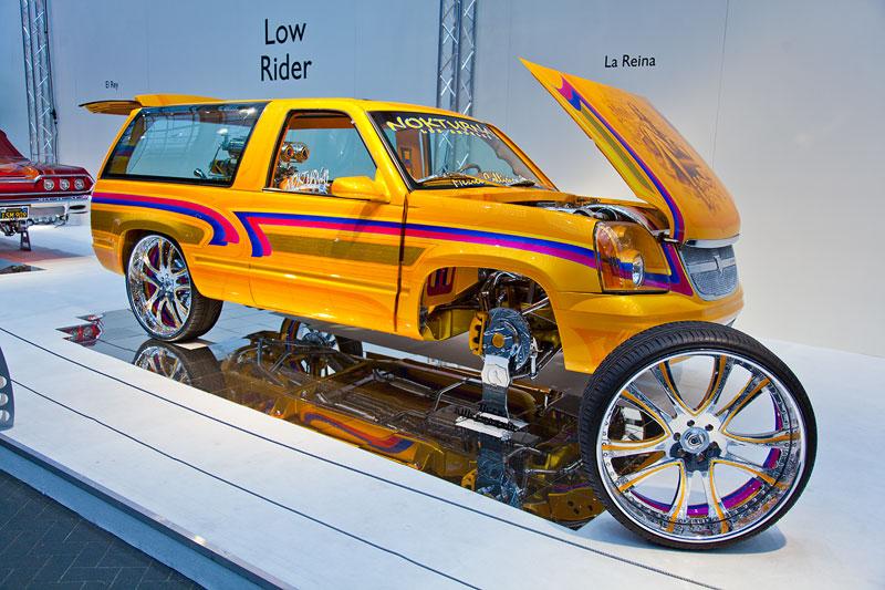 La Reina, Basis: SUV Chevrolet Tahoe (Baujahr 1998). Angetrieben von einem 5,7 Liter V8-Motor mit 255 PS