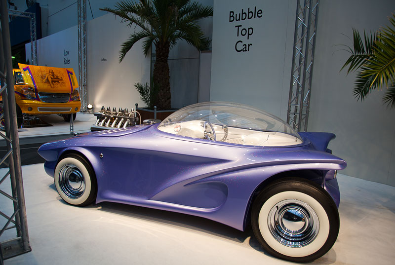 Cosmotron, 2,8 Liter-Motor mit 192 PS, 220 km/h schnell. Das Auto hat eine Strassenzulassung.