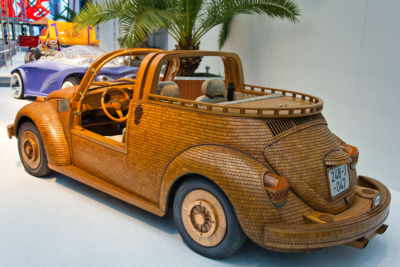 foto vw k fer kultauto im holz look bauzeit 18 monate eichen holzteile wurden per. Black Bedroom Furniture Sets. Home Design Ideas