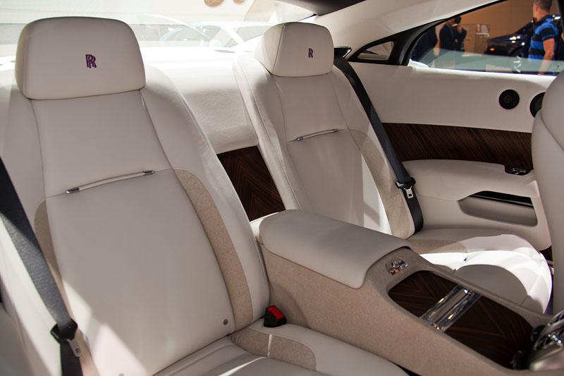Rolls-Royce Wraith, Sitze im Fond