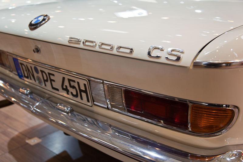 BMW 2000 CS, Typbezeichnung am Heck