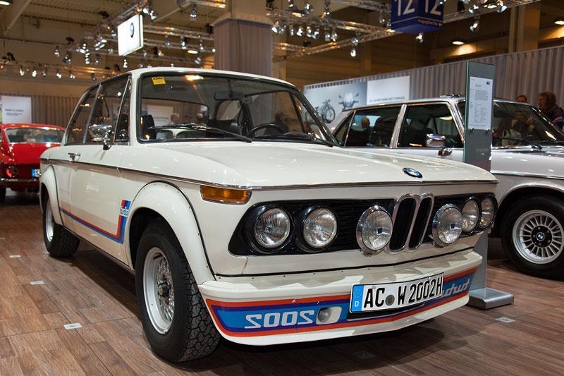 BMW 2002 turbo (E20), ausgestellt vom BMW 2002 turbo Club e.V., Besitzer: Dr. Paul Schröder, Techno Classica 2013