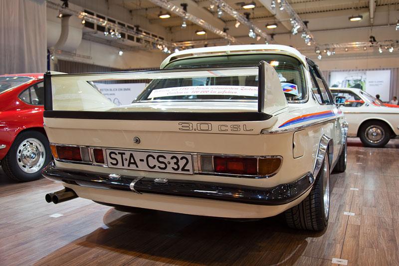 BMW 3.0 CSL (E9), Heckansicht. Der Besitzer Werner Hand nutzt das Auto normal im Alltag.